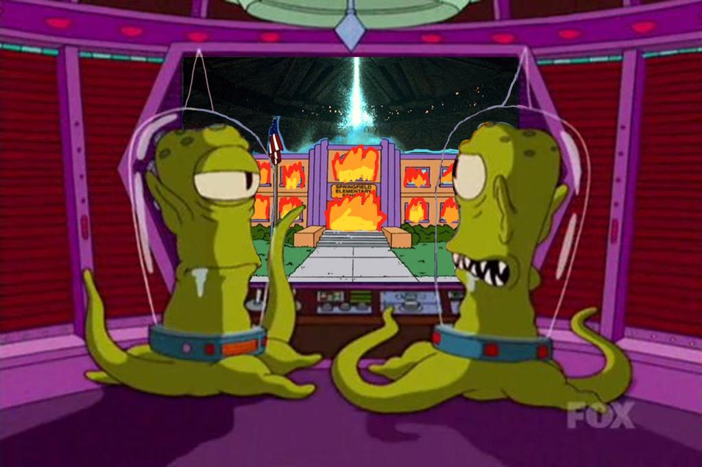 Simpsons Kang and Kodos