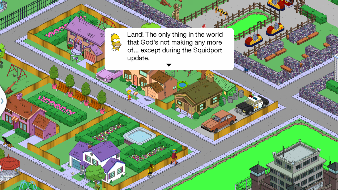 Simpsons Land Size Tapped Update Out