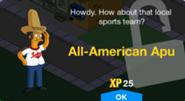 All American Apu Unlock