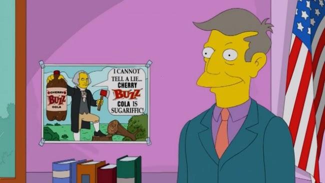 Simpsons - George Washington Buzz Cola