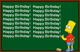 Bart Chalkboard Birthday