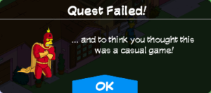 Quest failed