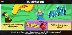 Superheroes Event Start