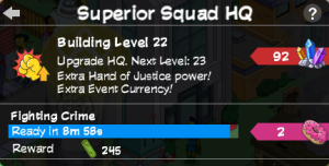 Superior Squad HQ Level Menu