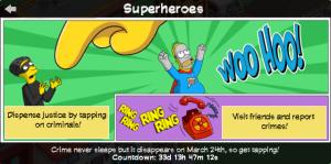 TSTO Superheroes Help panel