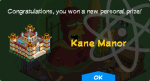 Tapped Out Kane Manor Unlock