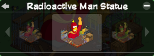 Tapped Out Radioactive Man Statue Skin