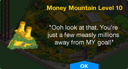 Tapped Out Money Mountain Level 10