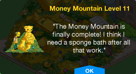 Tapped Out Money Mountain Level 11