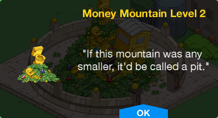 Tapped Out Money Mountain Level 2