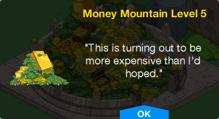 Tapped Out Money Mountain Level 5