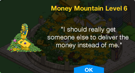 Tapped Out Money Mountain Level 6