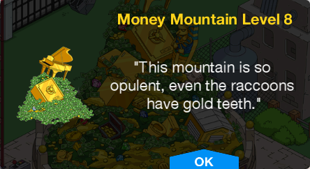 Tapped Out Money Mountain Level 8