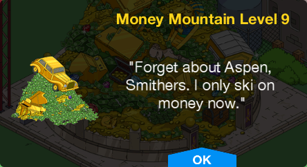 Tapped Out Money Mountain Level 9