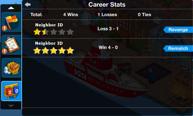 Career Stats Menu