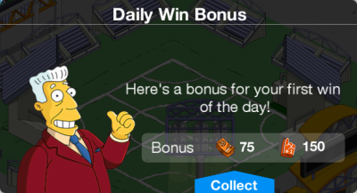 Daily Win Bonus