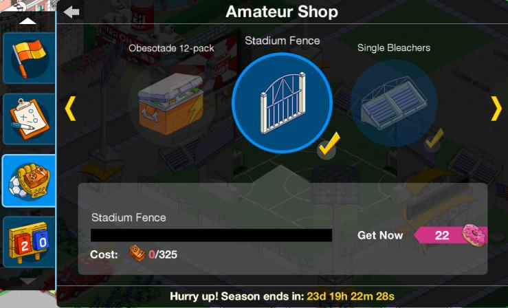 Amateur Shop Menu