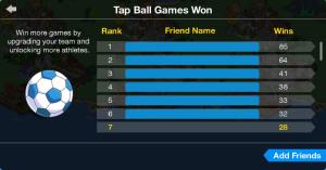Tap Ball Games Won
