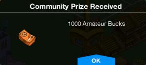 Community Prize 1000 Amateur Bucks