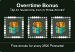 Overtime Bonus Pennants