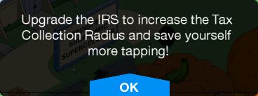 IRS Upgrade Message