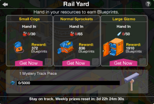 Rail Yard Prize Track