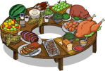 360 Degree Buffet Table