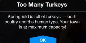 Too Many Turkeys Message