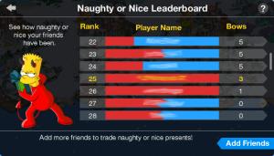 Naughty or Nice Leaderboard