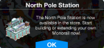 North Pole Station Message