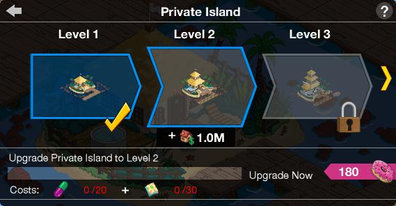 Private Island Upgrade