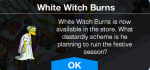 White Witch Burns Message