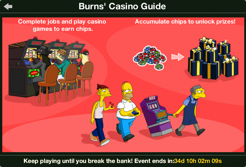 burns casino players club simpsons