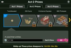 WW Act 2 Prizes