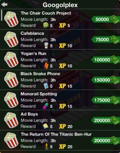 Googolplex Movie Menu