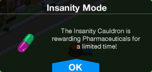 Insanity Mode Pharmaceuticals Message