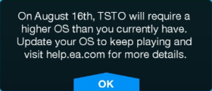 TSTO Firmware Warning