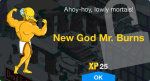 new-god-mr-burns-unlock